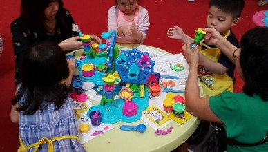 Kids enjoying Play-Doh