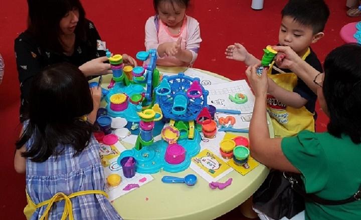 Kids enjoying Play-Doh
