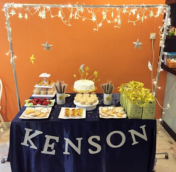 Kenson 1 year old party display