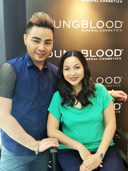 Me with MUA Vinz Chong - Young Blood Mineral