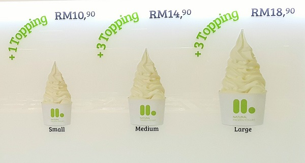 Selecting our llaollao size