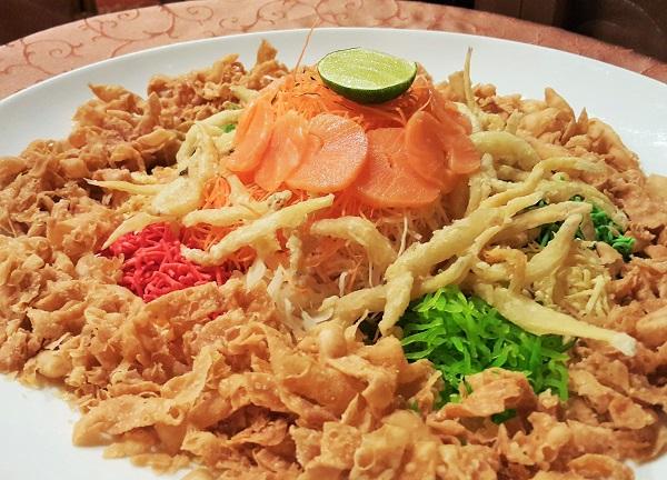 Crispy whitebait yee san - Tai Zi Heen