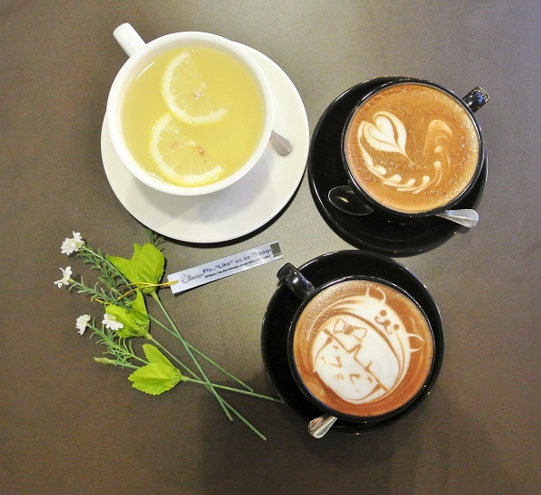 From Top - Honey Lemon, Flat White & Chocolate Latte