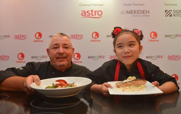 MAN VS CHILD - Press Launch_Chef Antoine Rodriguez, Executive Chef of Le Meridien Kuala Lumpur (left) and Chef Estie Kung from MAN VS CHILD CHEF SHOWDOWN
