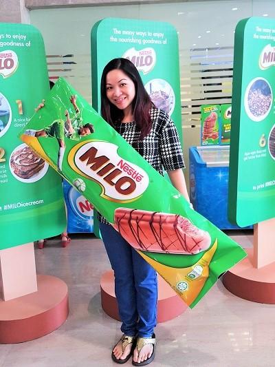 Me with a huge MILO Ice Cream