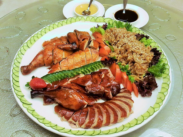 Roasted Chicken & Duck Platter served with marinated Jelly Fish - Zuan Yuan, One World Hotel