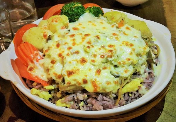 Baked Cheese Mushroom Rice - Mama Kim