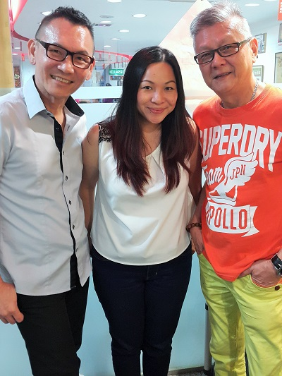 Me with Chef Roy & Freddie Wong, Owner of Restaurant Wong Dynasty