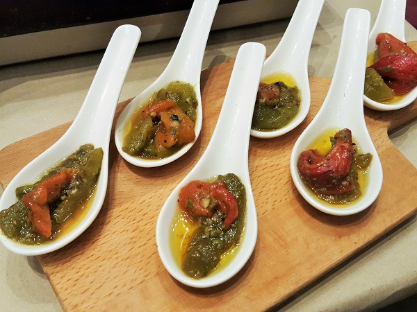 Roasted bell peppers with capers and anchovies - Renaissance Hotel