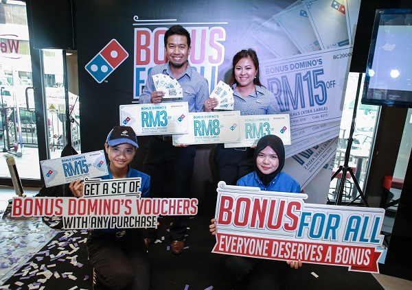 Domino's Bonus For All Vouchers 2