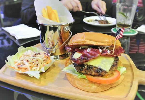 Bacon Cheese Burger (RM 24)