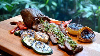 RKLH Argentinian churrasco with chimichurri sauce