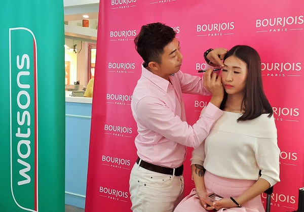 Makeup demonstration by Bourjois showing the new trend from Paris