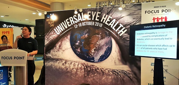 """Focus Point's Senior Manager Professional Services, with more than 17 years in the eye care industry, Mr Poo Guan Meng presented most """"popular"""" eye issues according to different ages) nutrition tips, and practical ways to take care of one's eyes daily."""