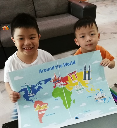 Finally, our world map is ready and we uploaded our contest entry. Here's a recap of the steps to join HP Little Makers Challenge: