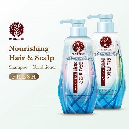50 Megumi Nourishing Hair & Scalp (Fresh)